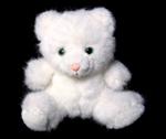 white plush cat toy