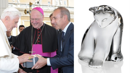 Matt Lauer Gives Pope Steuben Cat