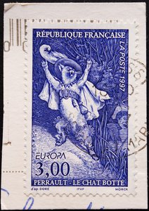 French cat stamp