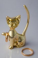cat jewelry ring holder