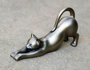 Metal Cat Figurine